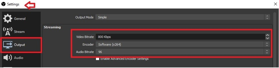 best audio setting obs
