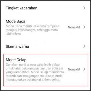 dark mode android 3a